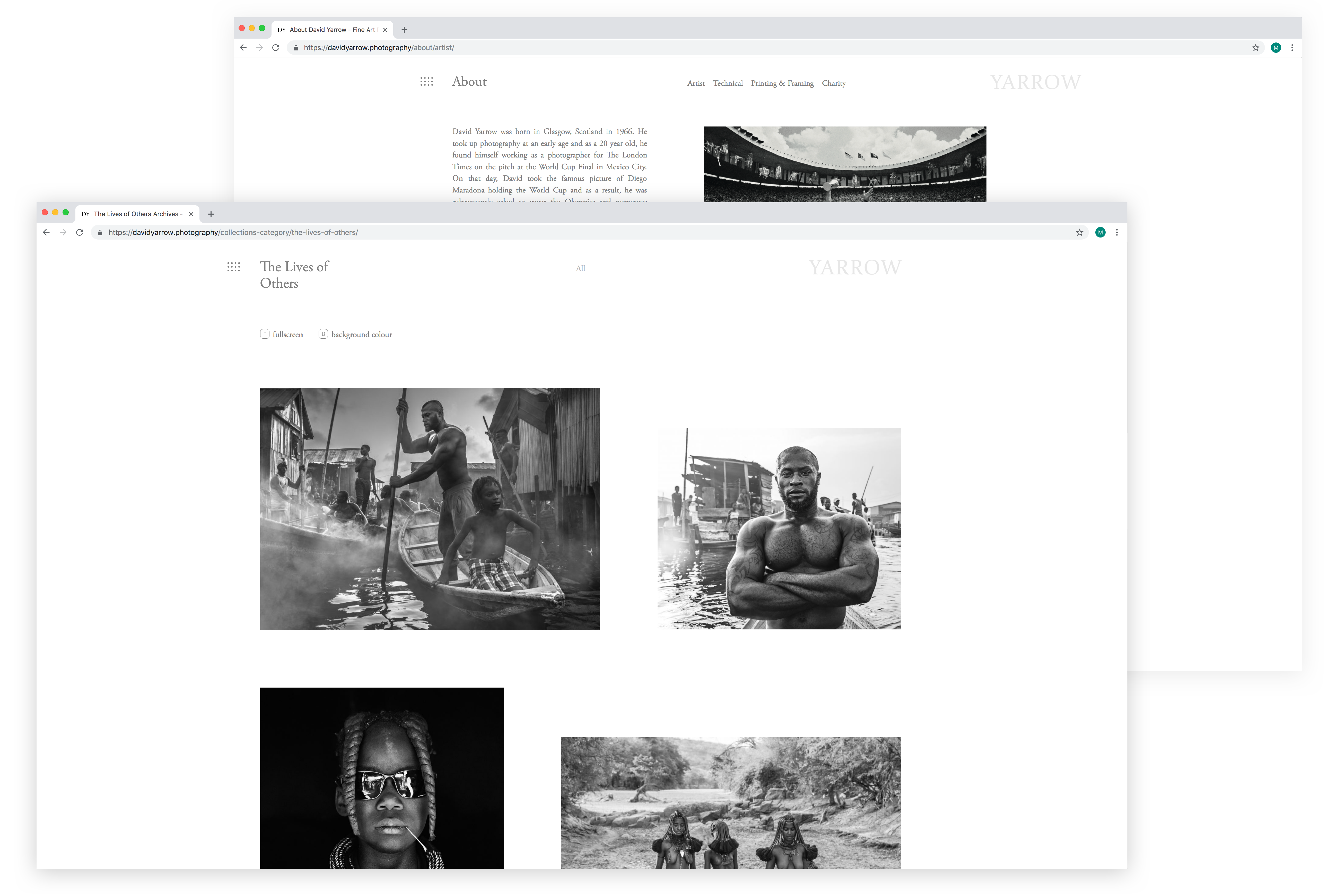 David Yarrow Photography website