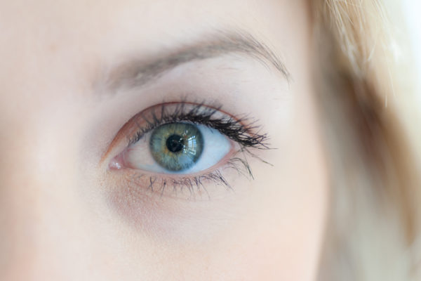 Photo of a person's eye, which can be used for iris recognition